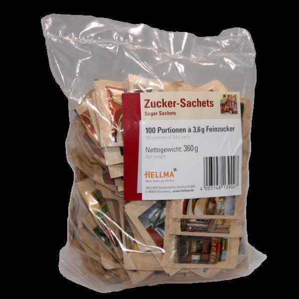 Hellma Zucker-Sachets, 100 Portionen