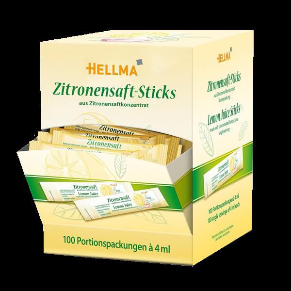 Hellma Zitronensaft-Sticks, 100 Portionspackungen je 4ml