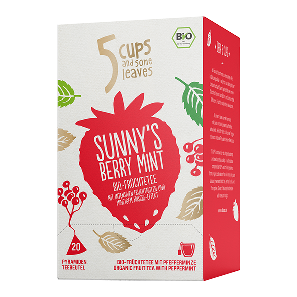 5 CUPS and some leaves Bio Sunny´s Berry Mint