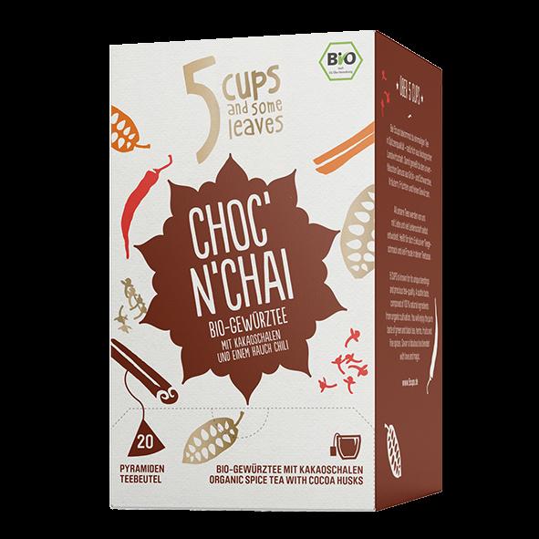 5 CUPS and some leaves Bio Choc´n Chai