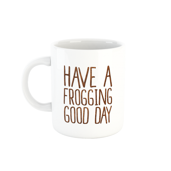 "FROG.coffee Tasse, Motiv: ""Frogging Good Day"""