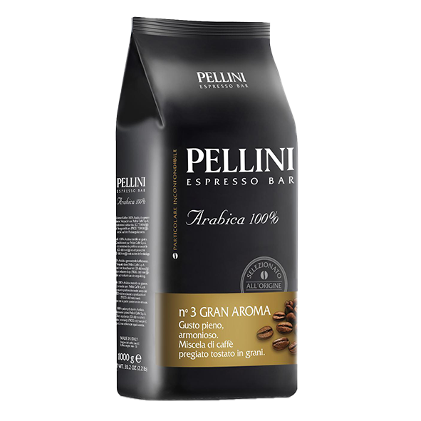 Pellini Espresso Bar n° 3 Gran Aroma, 1000g ganze Bohne